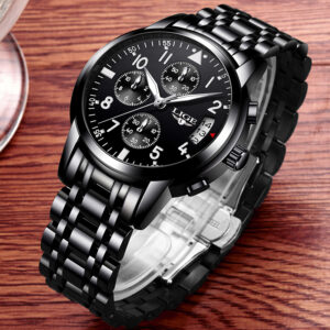 LIGE Watches Dress Business Chronograph