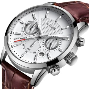 LIGE Business Watch Silver/White