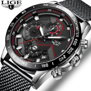 Lige Sports Watches Stainless Steel Mesh