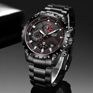 LIGE Sports Watches Military Chronograph